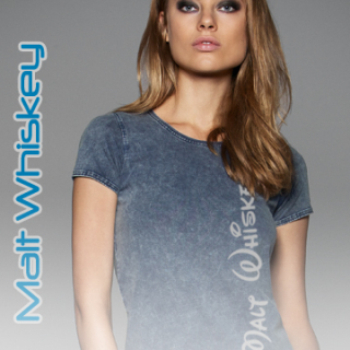 Malt Whiskey DENIM EDITING T-Shirt for Women