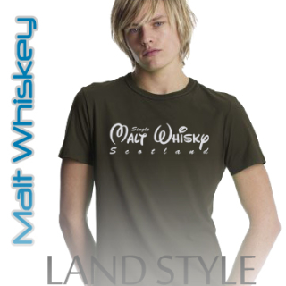 Malt Whiskey Men`s T-Shirt Land Style