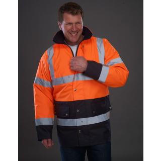 High Visibility Two-Tone Motorway Jacket Orange/navy EN ISO20471 / GO/RT 3279