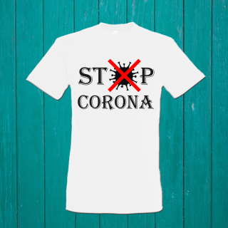 Funnywords Corona Fun T-Shirt - Stop Corona S-3XL