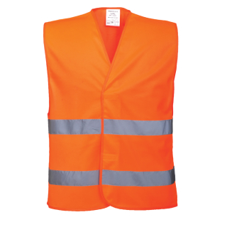 Portwest Warnweste Orange EN ISO 20471 Class 2 in 4 größen S/M, L/XL, XXL/3XL, 4XL/5XL
