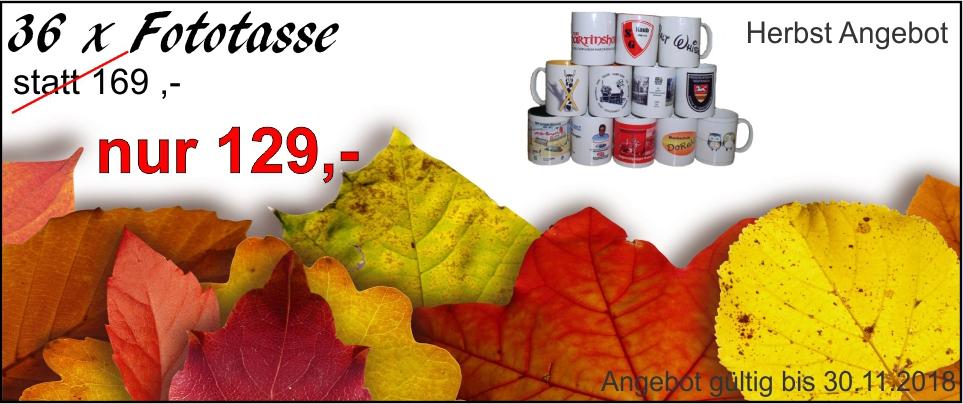 Fototassen Herbst Angebot
